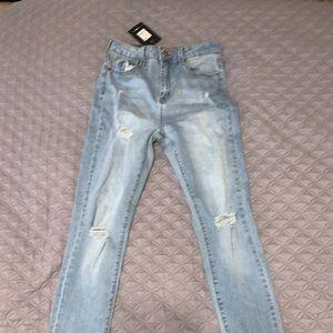 skinny high rise jeans